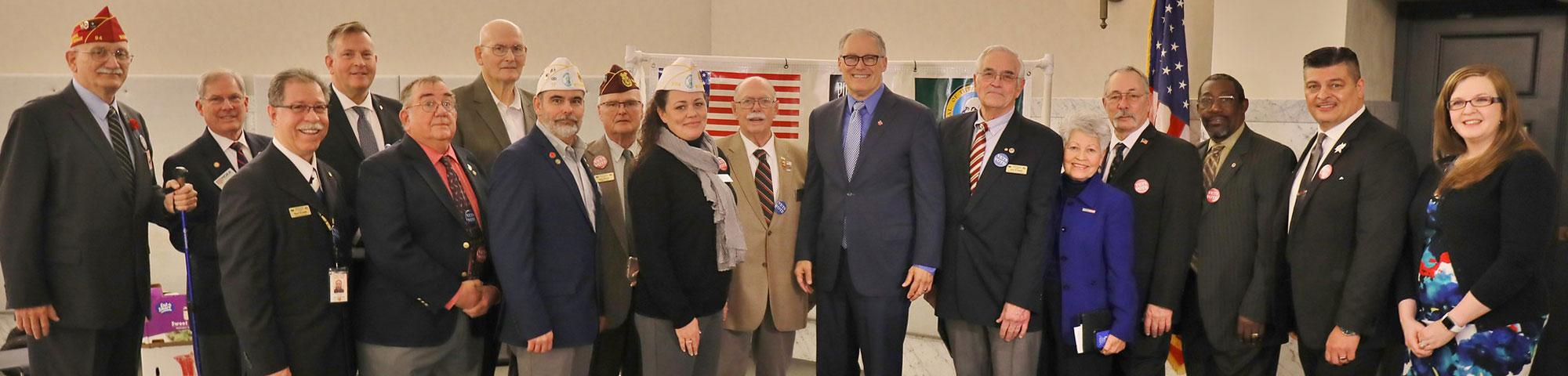 2020.01.17 Veterans Legislative Coalition (VLC) Reception at the Capitol - Special Words from Governor Inslee